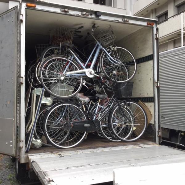 放置自転車 積込&撤去後
